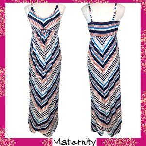 Old Navy Maternity Stripe Maxi Dress- S